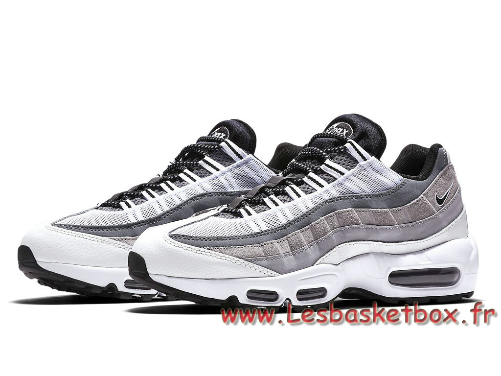 ... Nike Air Max 95 Essential Blanches 749766_101 Chausport Officiel Nike  Pour Homme Gris ...