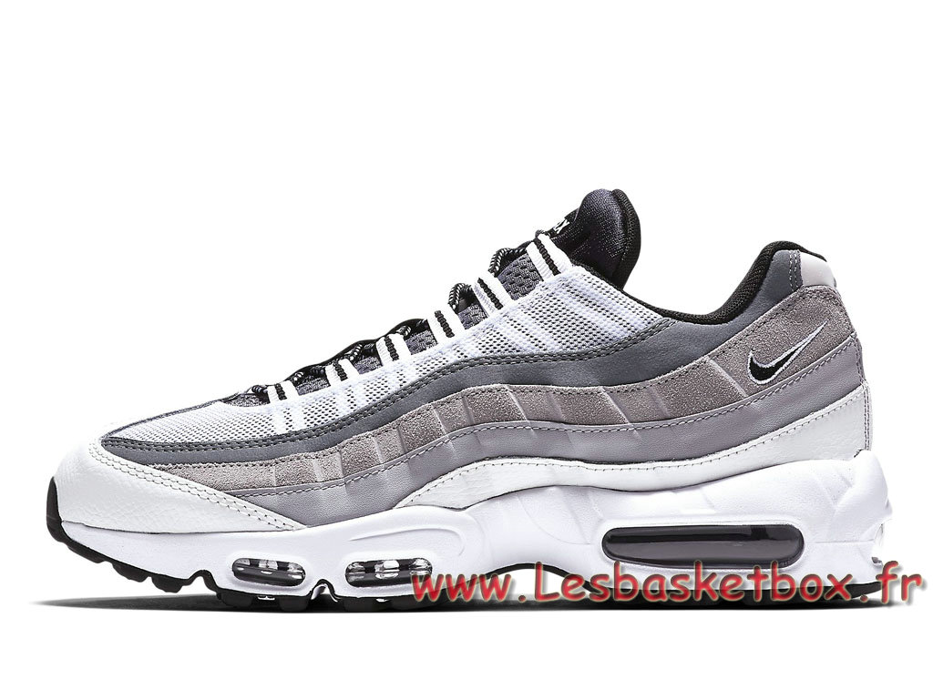 various colors 30989 b7d37 Nike Air Max 95 Essential Blanches 749766 101 Chausport Officiel Nike Pour  Homme Gris ...