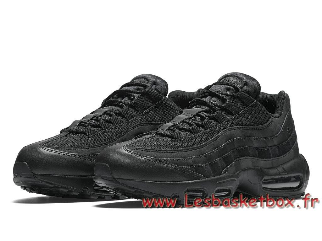 san francisco 97363 389db ... Nike Air Max 95 Essential Noire 749766_009 Chaussures Nike Pas cher  Pour Homme NOires ...