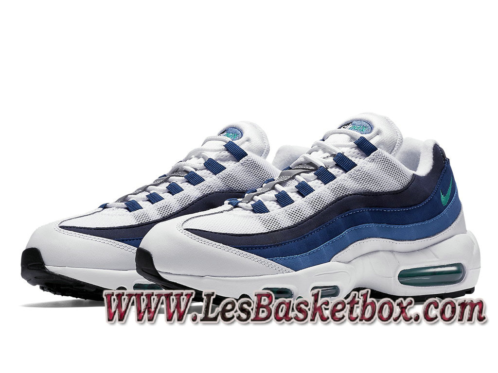 on sale 7e13f 539eb ... Nike Air Max 95 OG Slate 554970 131 Chaussures Nike Air Pour Homme  Blance ...