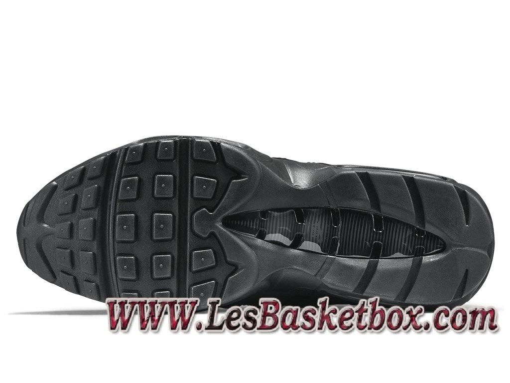 huge discount ba347 d3e91 ... Nike Air Max 95 Triple Black 609048-092 Chaussures Nike Pas cher Pour  Homme Noire ...