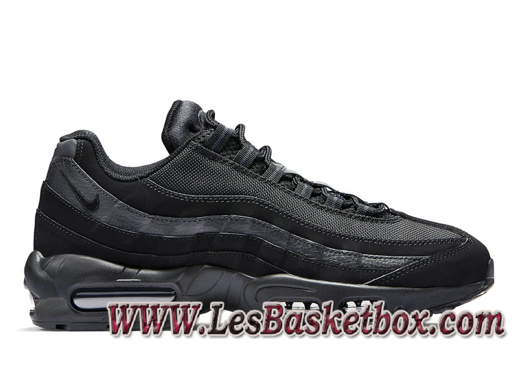 huge discount 13abe 3294f Nike Air Max 95 Triple Black 609048-092 Chaussures Nike Pas cher Pour Homme  Noire ...