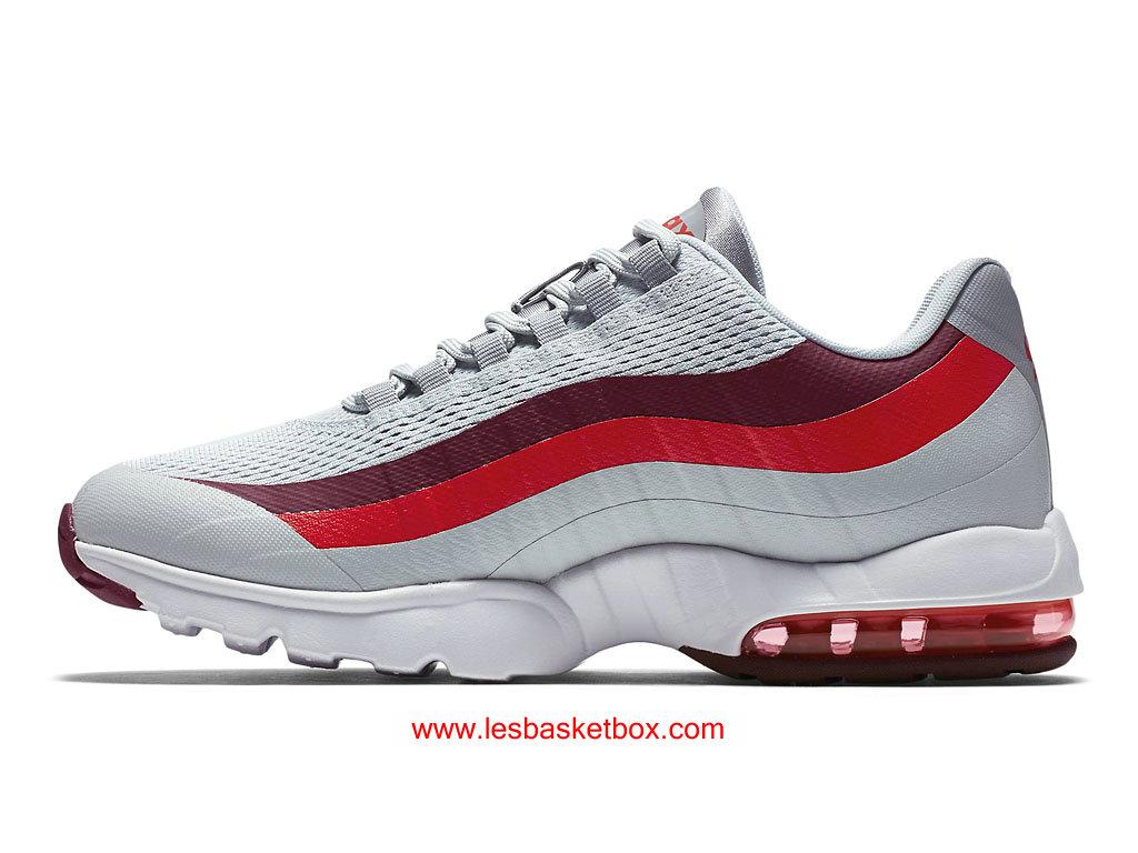 wholesale dealer b0d8b e1da5 ... Nike Air Max 95 Ultra Athletic Pure Platinum Crimson Lumineux Femmes  749212-003 ...
