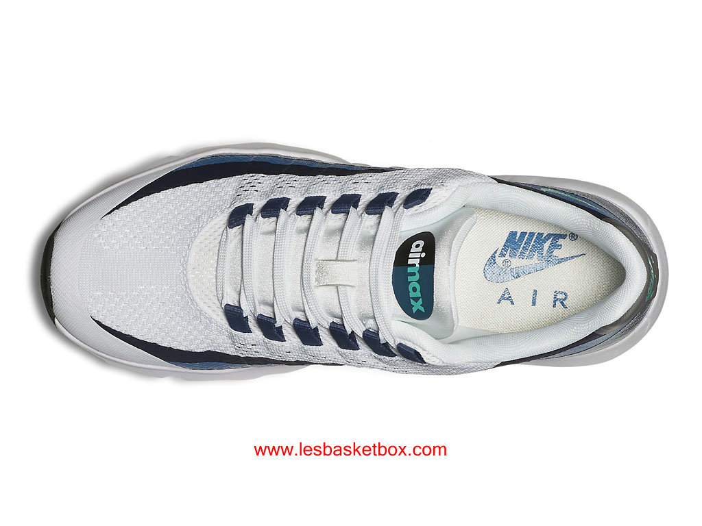 quality design ab616 36346 ... Nike Air Max 95 Ultra Blanc Crystal Mint Brigade Bleu Chaussures Pour  Femme 749212-100 ...