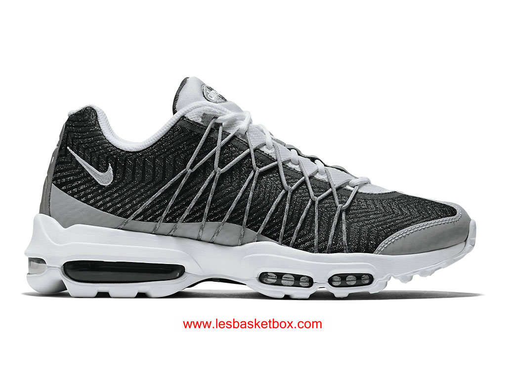cheaper 67ee5 67379 Nike Air Max 95 Ultra Jacquard Blanche Wolf Gris Pour Femme Pas Cher  749771-100 ...