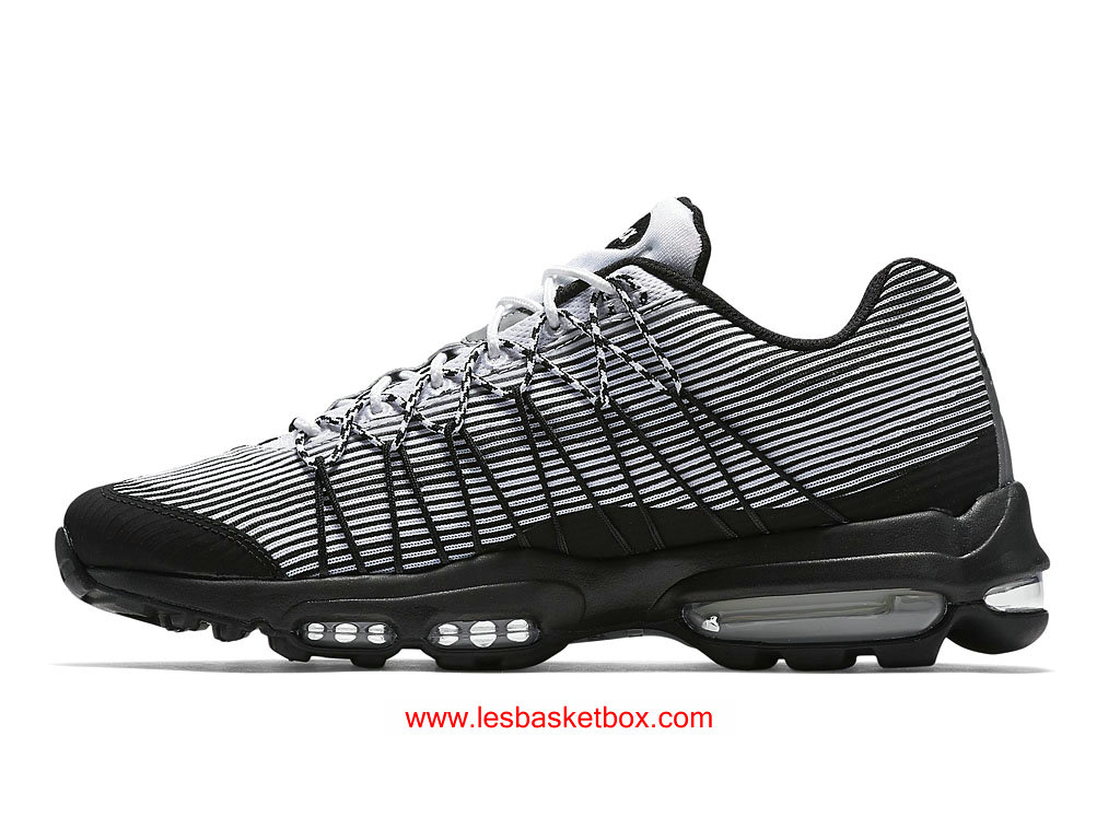 free shipping f230a e8552 ... Nike Air Max 95 Ultra Jacquard Noir Blanche Chaussures Pour Femme  749771-101 ...