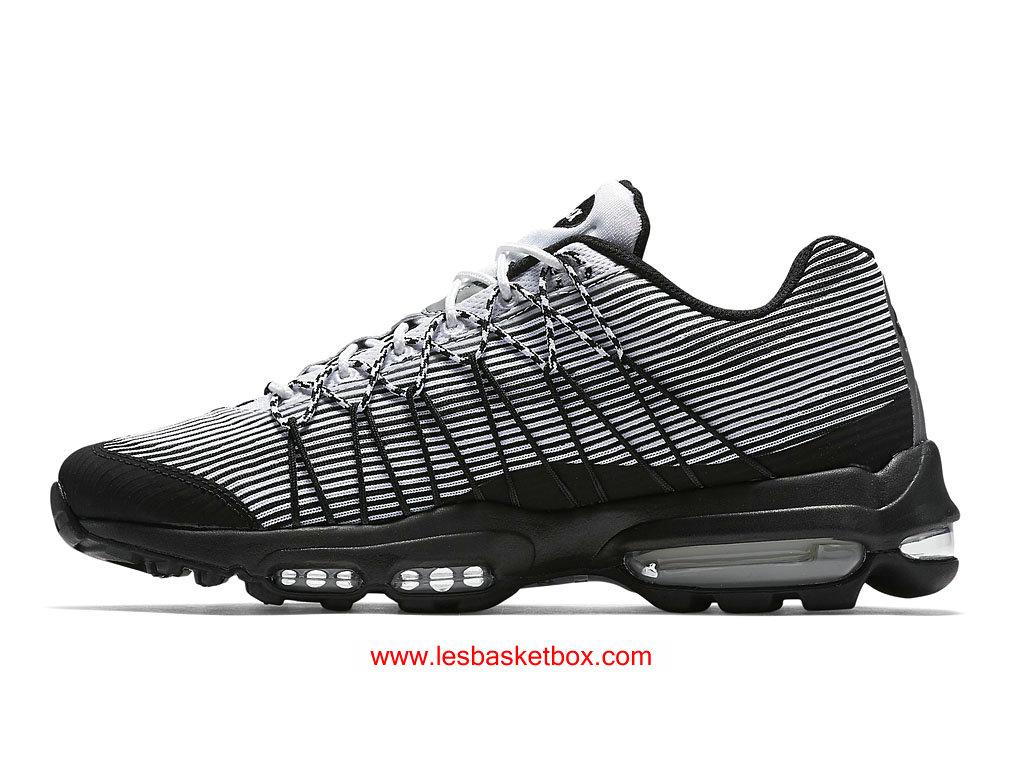 ... Nike Air Max 95 Ultra Jacquard Noir Blanche Chaussures Pour Femme 749771-101 ...