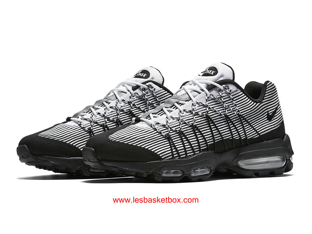 free shipping 9f3f8 4aee4 ... Nike Air Max 95 Ultra Jacquard Noir Blanche Chaussures Pour Femme  749771-101 ...