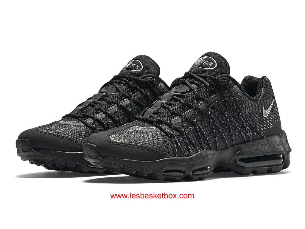 2979f2e868e2 ... Nike Air Max 95 Ultra Jacquard Noir Coleur Pour Femme Pas Chere 749771- 001 ...