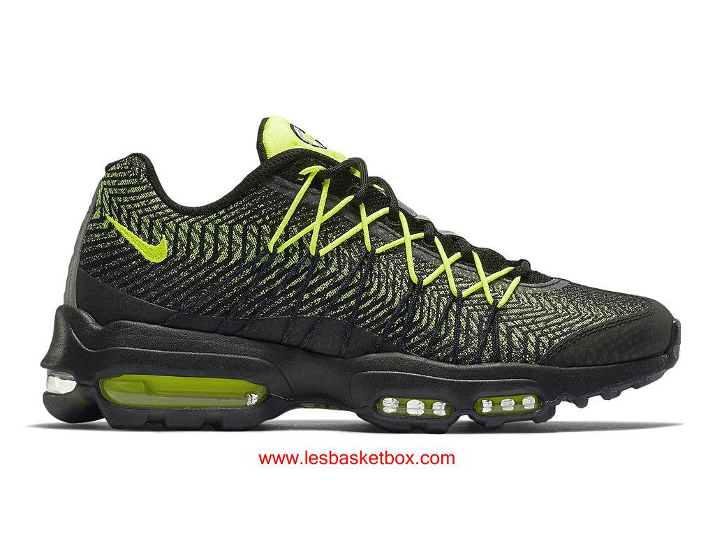 wholesale dealer 27436 c9d4c Nike Air Max 95 Ultra Jacquard Volt Black For Womens Shoes Cheap 749771-007