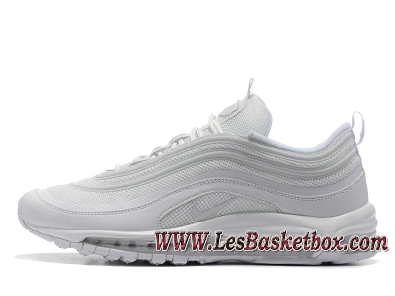 Nike Air Max 97 OG QS Triple White 884421_100 Chaussures Nike Officiel 2017 Pour HOmme Blance ...