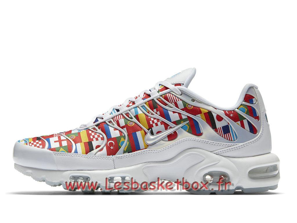 8d5fe1c88a6c Nike Air Max Plus NIC QS Multi AO5117 100 Chaussures Officiel Pas cher Pour  Homme Blanc ...