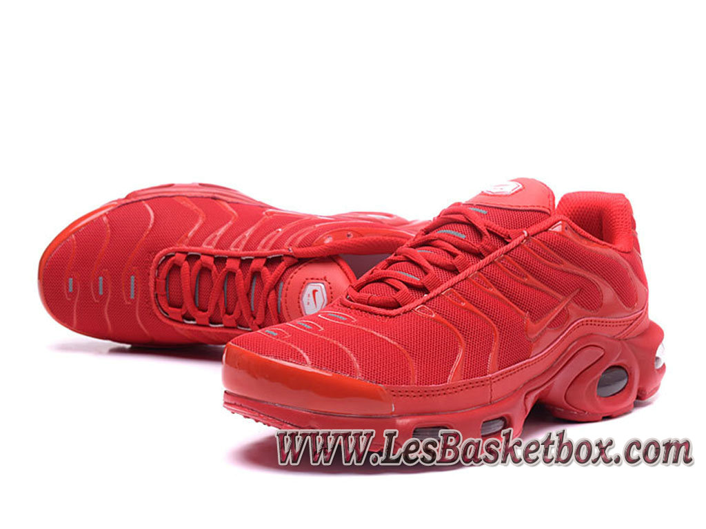 ... Nike Air Max Plus (Nike Tn 2017) Rouge Chaussures Tn Requin Pour homme ...