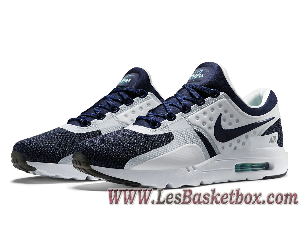 new style 62f8a 0f87d ... Nike Air Max Zero QS Navy 789695-104 Chaussures Nike Pas cher Pour  Homme Blue ...