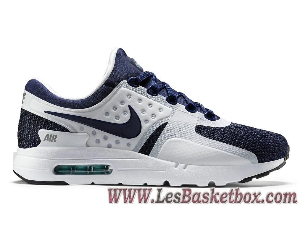 Nike Air Max Zero QS Navy 789695-104 Chaussures Nike Pas cher Pour Homme  Blue ... 80e87349fb04
