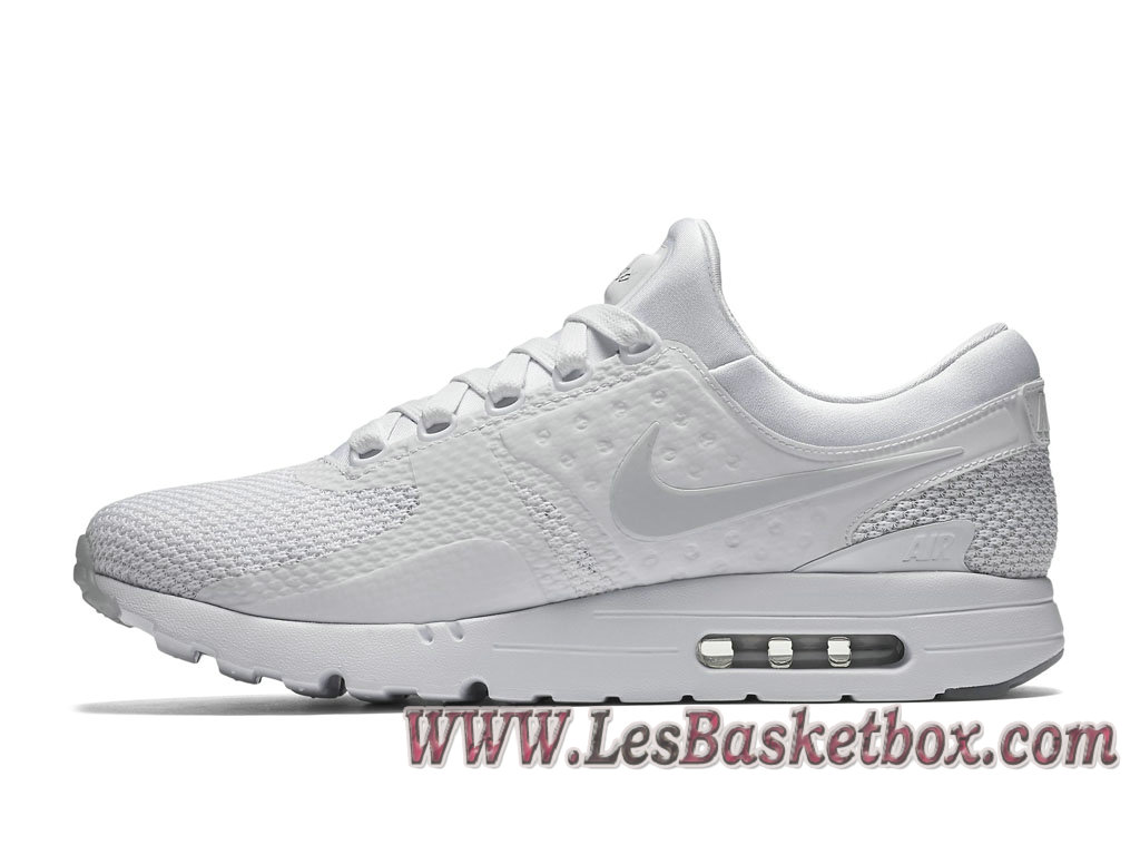 new styles a883a 62eff ... Nike Air Max Zero QS Triple White 789695 102 Chaussures NIke 2017 Pour Homme  Blanc ...