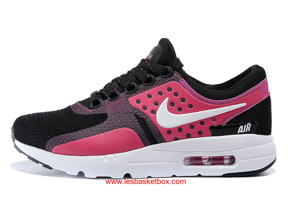 on sale 9e020 3f207 Nike Air Max Zero Pink Black White Shoes Cheap For Womens Kids