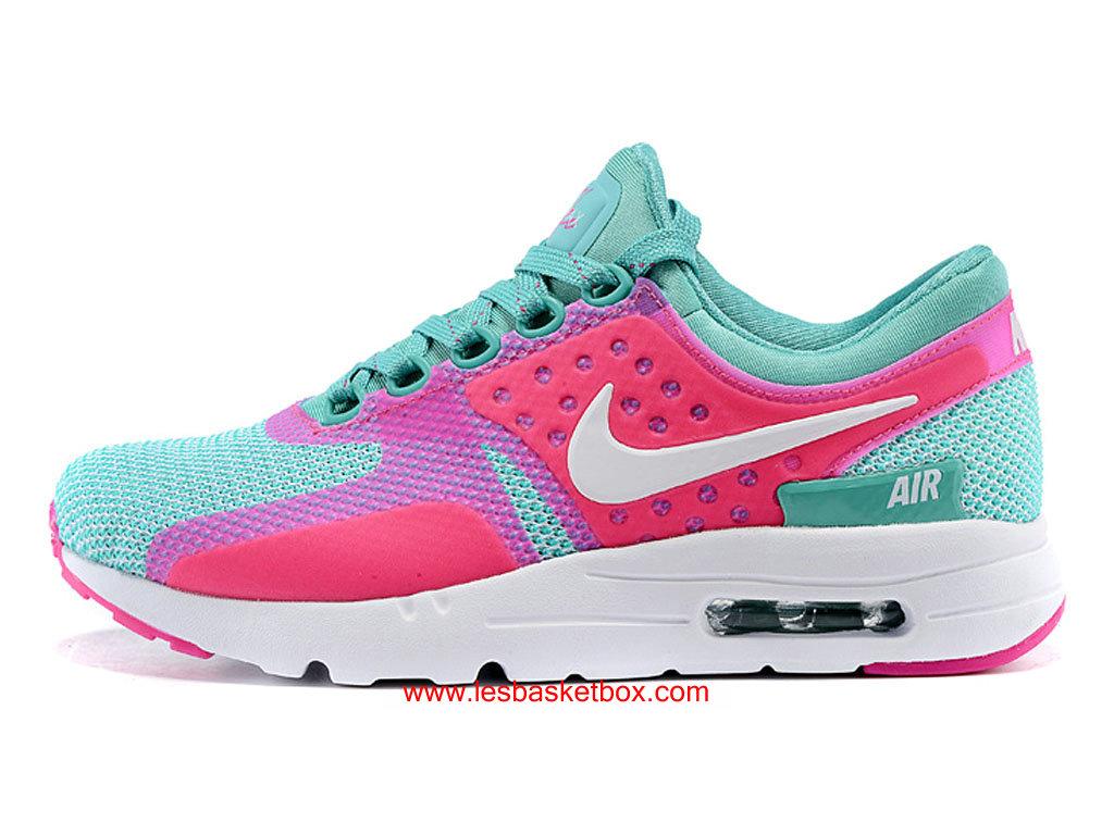 sneakers for cheap 4a3dd fd76a Nike Air Max Zero Rose Vert Blanche Coleur Pour Femme Enfant Pas Cher ...