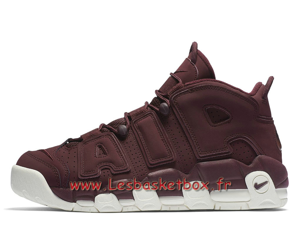reputable site c407f e2d99 Nike Air More Uptempo 96 Qs Night Maroon 921949 600 Chaussures Nike Release  2017 Pour HOmme ROuge