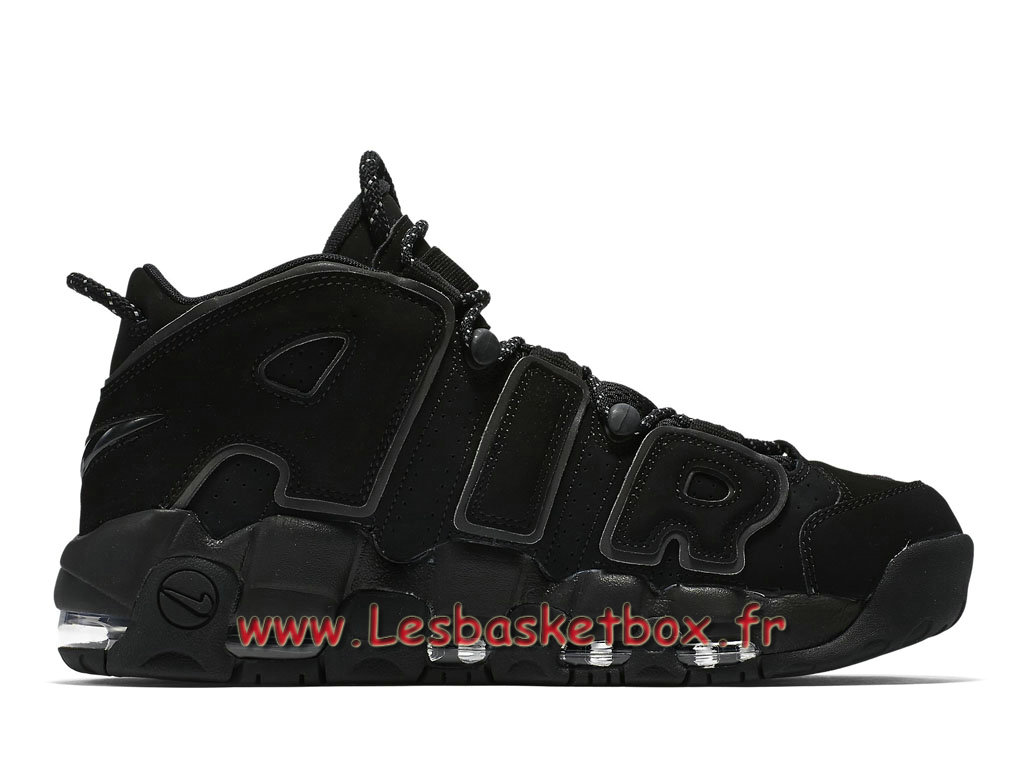 premium selection adc8f 508a0 ... Nike Air More Uptempo Black Reflective 414962-004 Chaussport Nike  Basket Pour Homme Noires ...