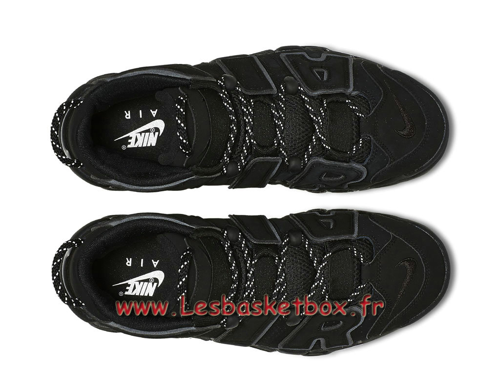 online store df826 349fb ... Nike Air More Uptempo Black Reflective 414962-004 men´s Nike Basket  Shoes Black ...