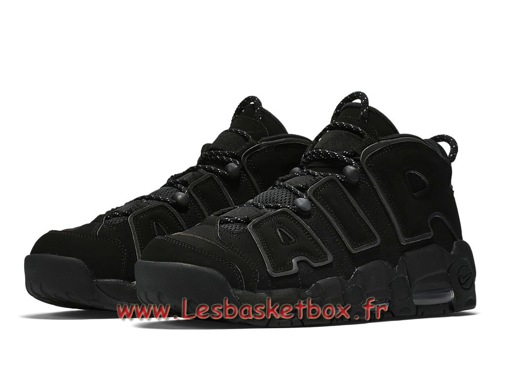 buy online b9d83 d4226 ... Nike Air More Uptempo Black Reflective 414962-004 men´s Nike Basket Shoes  Black ...