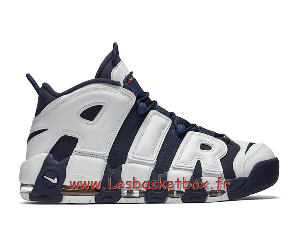 Nike Air More Uptempo Olympic 414962-104 Chaussures Nike Pas cher Pour HOmme Blanc