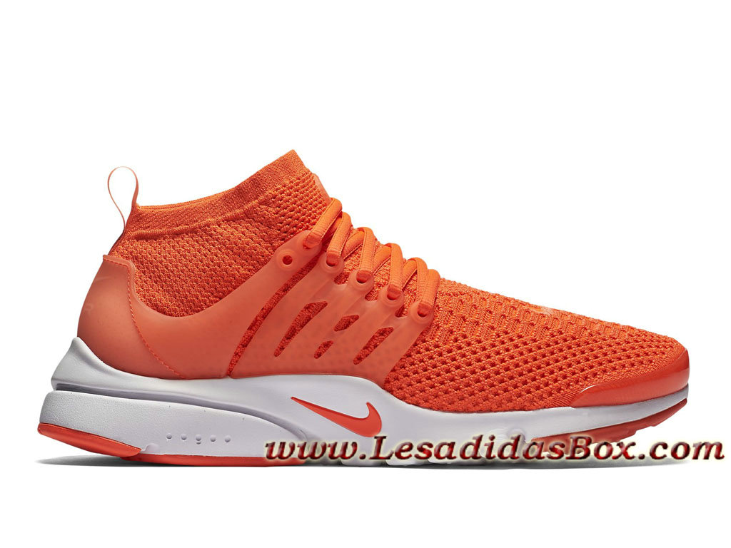 finest selection 4b71a 38e7b Nike Air Presto Flyknit Ultra Total Crimson 835570800 Chaussures Pour Homme  Orange ...