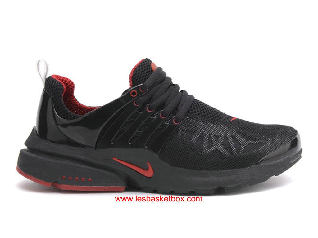 reputable site c1726 5b863 Classique Model Nike Air Presto Noire Rouge Trainers Chaussures Pour ...