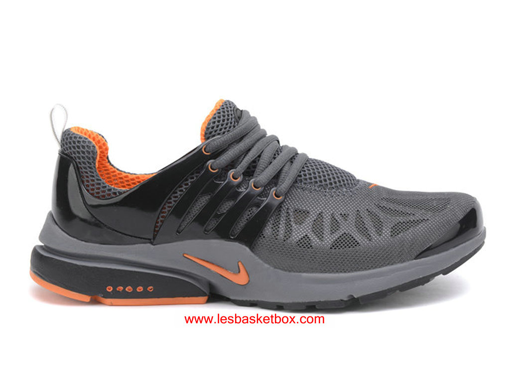 timeless design 225ce a3d6a Nike Air Presto Trainers Noir Gris Orange Chaussure Pour Homme ...