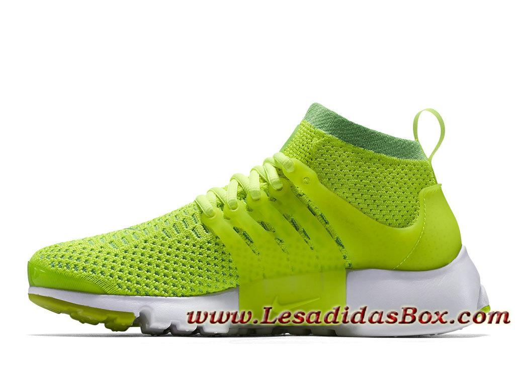 wholesale dealer 40e9d 1e852 ... Nike Air Presto Ultra Flyknit Volt 835738300H Chaussures Officiel Prix  Pour Homme Vert ...