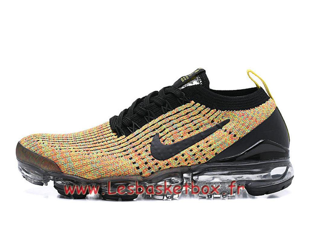 site réputé ea8f2 e2391 Nike Flyknit Air Vapormax 2019 Black yellow AJ6900-006 Chaussures Nke Pas  cher Pour HOmme - 1812201804 - Officiel Nike Basket Pour Homme Et Femme A  ...