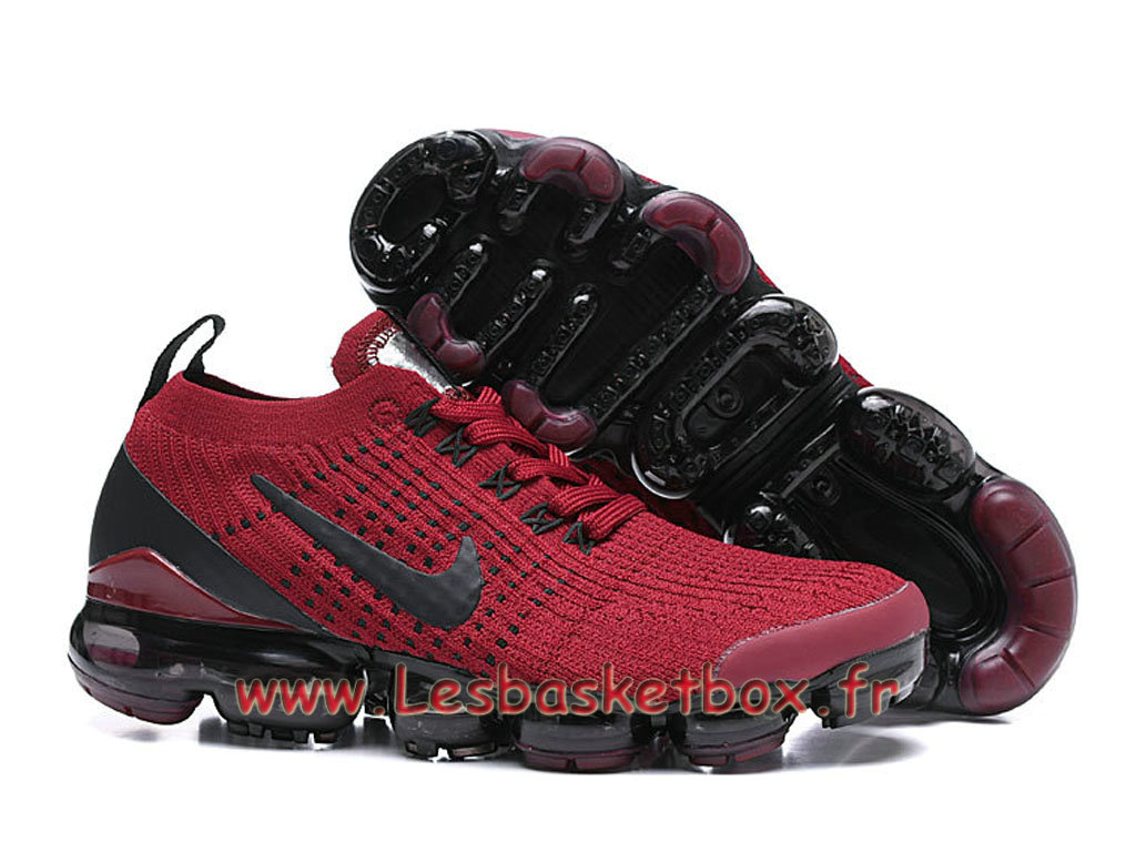 reputable site e1bcc b33fe Nike Flyknit Air Vapormax 2019 Red AT6910 600 Chaussures nike Pas cher Pour  HOmme ...