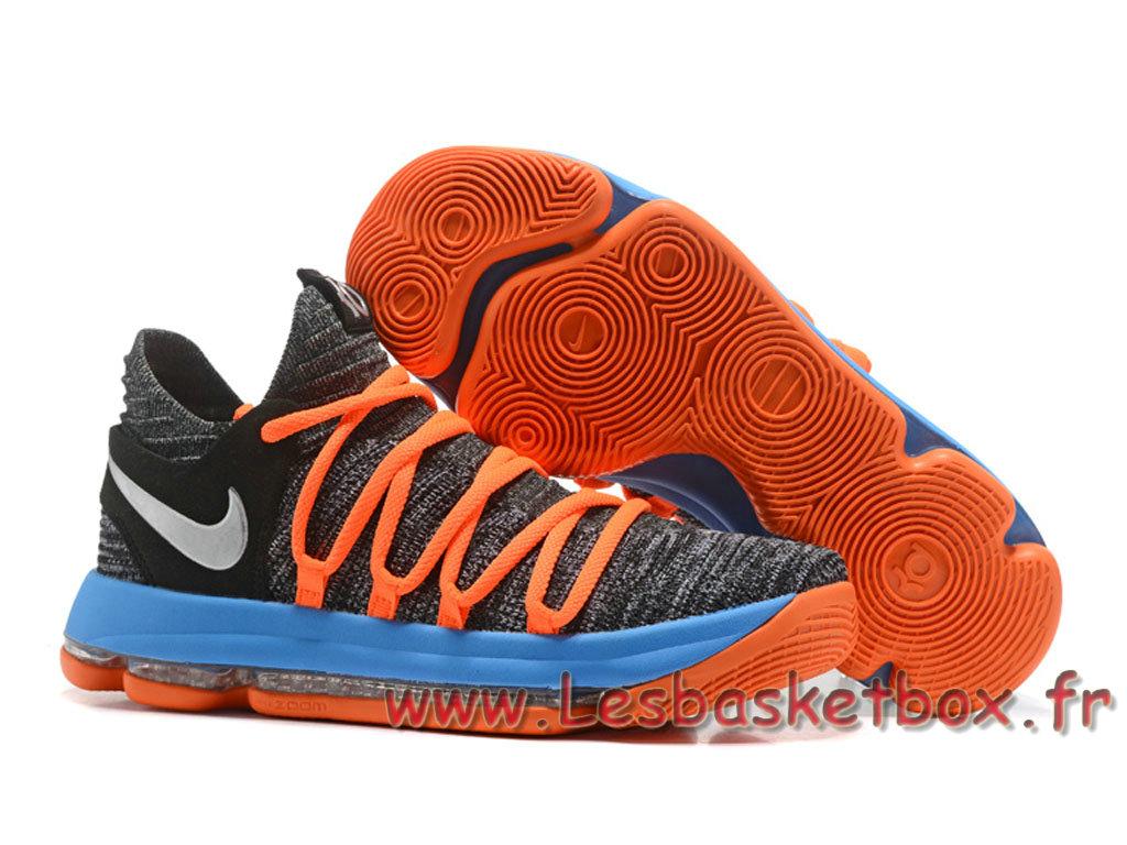 Nike KD 10 Gris/Orange Chausport Nike Kd Pas cher Pour Homme