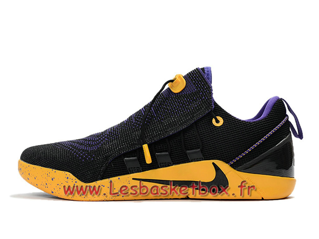 Nike Kobe A.D NXT Noir Jaune 882049_ID3 Chaussures NIke Basket Pour Homme Jaune