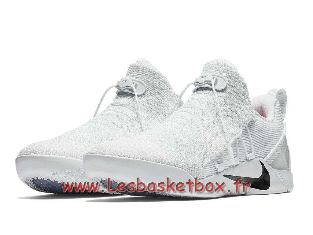 sale retailer 5e094 34681 ... Nike Kobe A.D.NXT White Black 882049 100 Chaussures Nike Basket Pour  Homme Blance ...