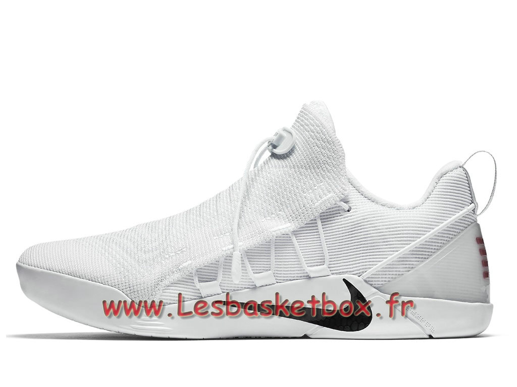 Nike Kobe A.D.NXT White Black 882049_100 Chaussures Nike Basket Pour Homme Blance