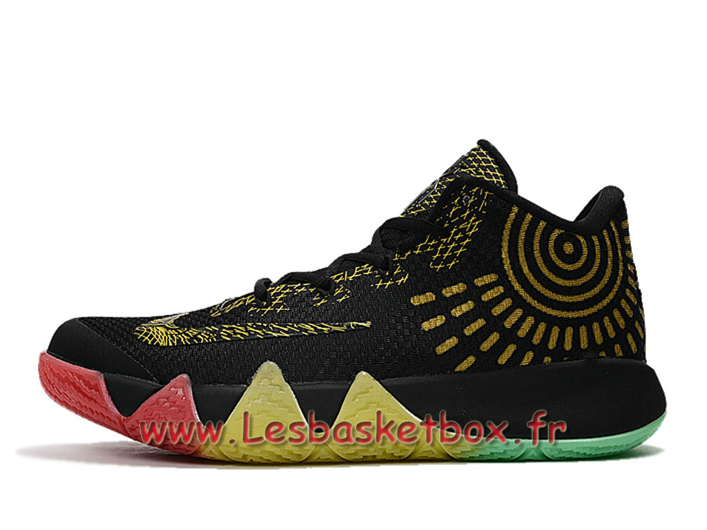 finest selection 06799 ae1c7 Nike Kyrie 4 BHM Black/GOld Men´s Officiel Nike 2017 Shoes ...