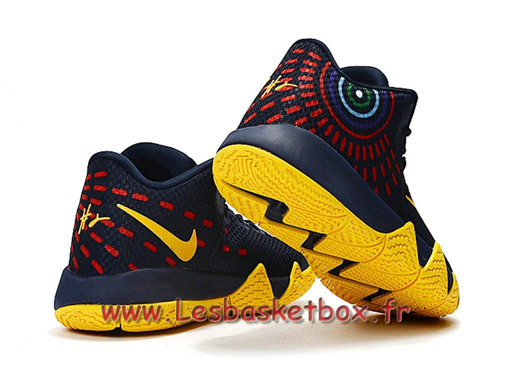 super popular ff15e 6fbfa ... Nike Kyrie 4 Deep Bleu Jaune Chausport Nike Basket Prix Pour Homme ...