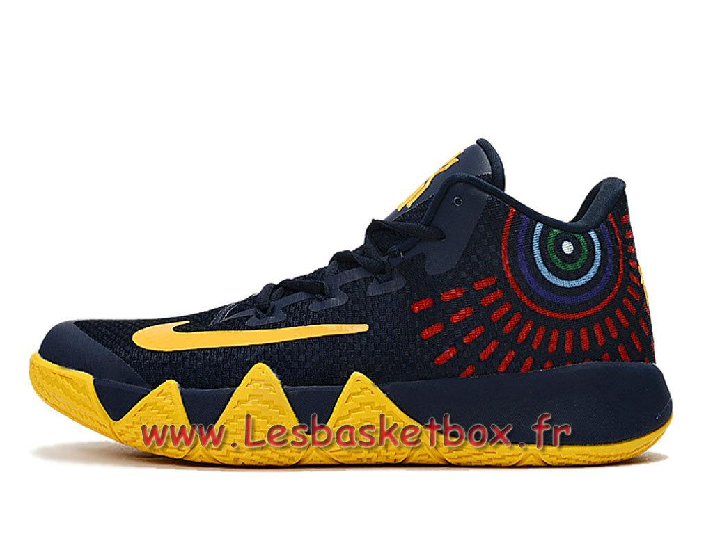 the best attitude c5c56 4fbc5 Nike Kyrie 4 Deep Bleu Jaune Chausport Nike Basket Prix Pour Homme ...