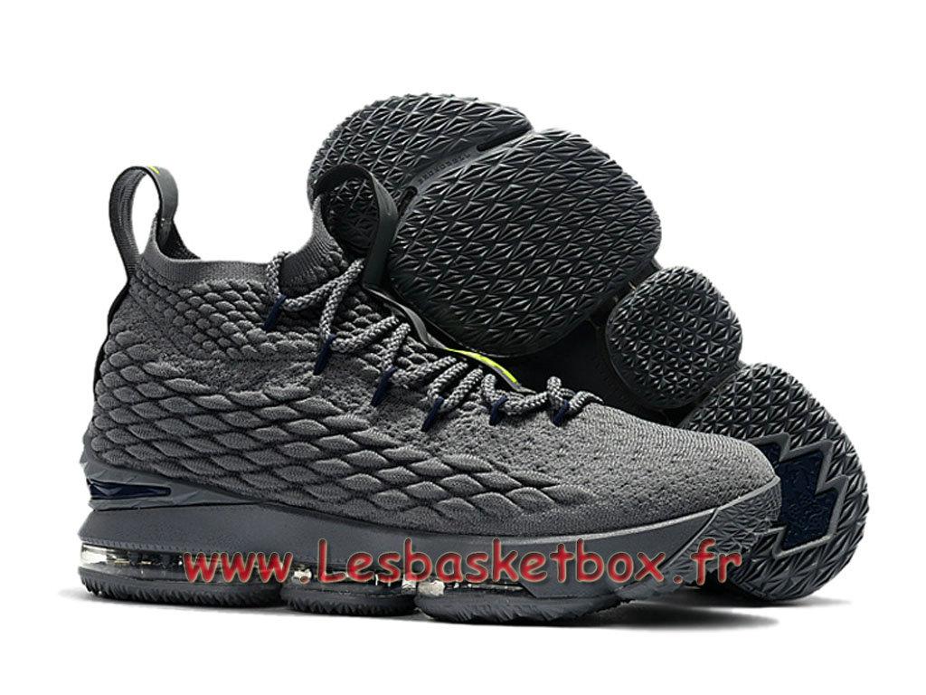 wholesale dealer ac9eb e9742 ... Nike LeBron 15 Cool Gris 897648 ID14 Chaussures Officiel prix Pour  Homme Gris ...