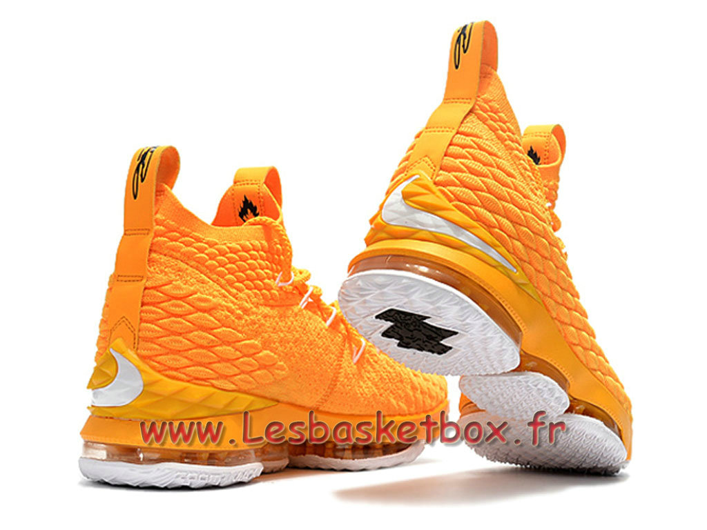 pretty nice f7187 14716 ... Nike LeBron 15 Jaune 897648_ID6 Chaussures Nike pas cher Pour Homme  Jaune