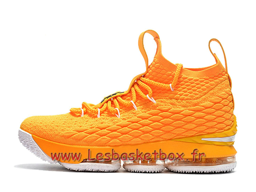 Nike LeBron 15 Jaune 897648 ID6 Chaussures Nike pas cher Pour Homme