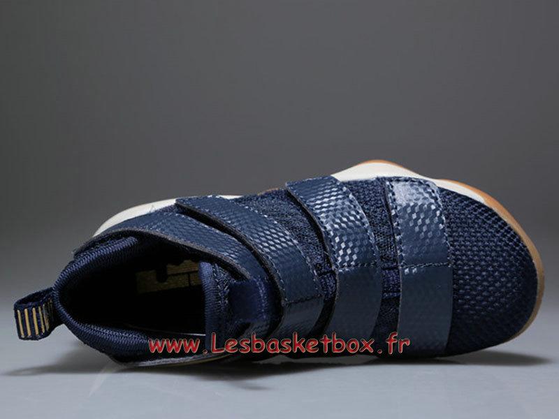 brand new 798fb 04356 Deep Enfant 11 Soldier Basket Chaussures Bleu Pas Lebron Nike Iq7Cpp