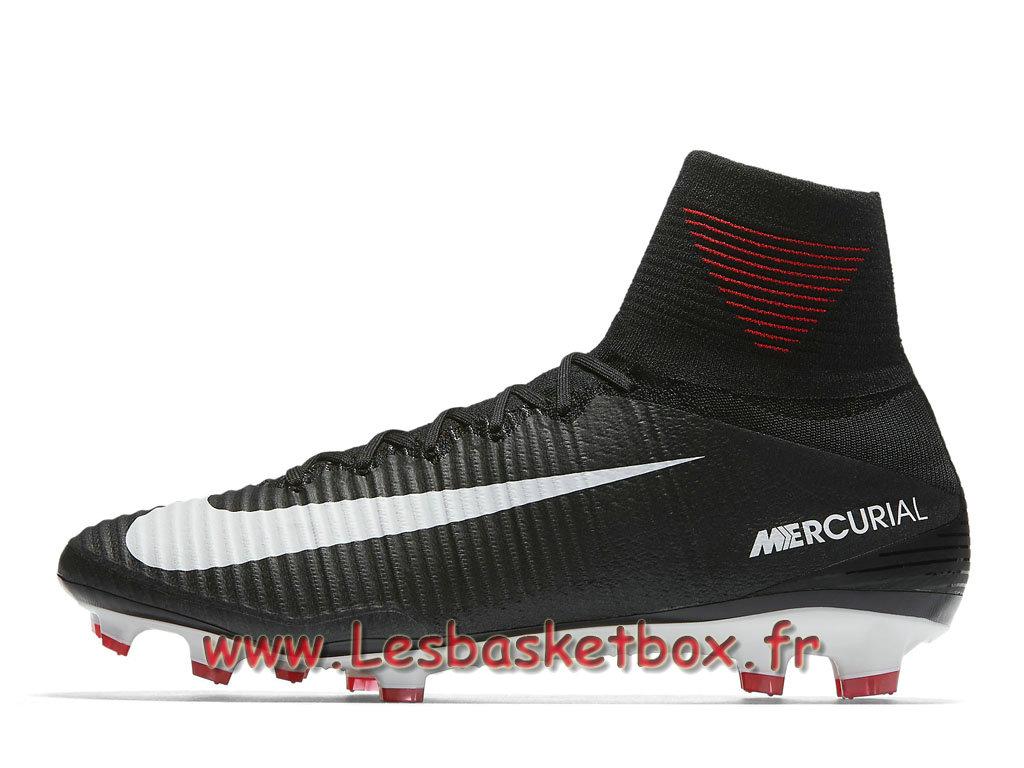 Nike Mercurial Superfly V FG 831940 002 Chaussure de football à crampons  pour terrain sec Noir  59906e5cac6dd