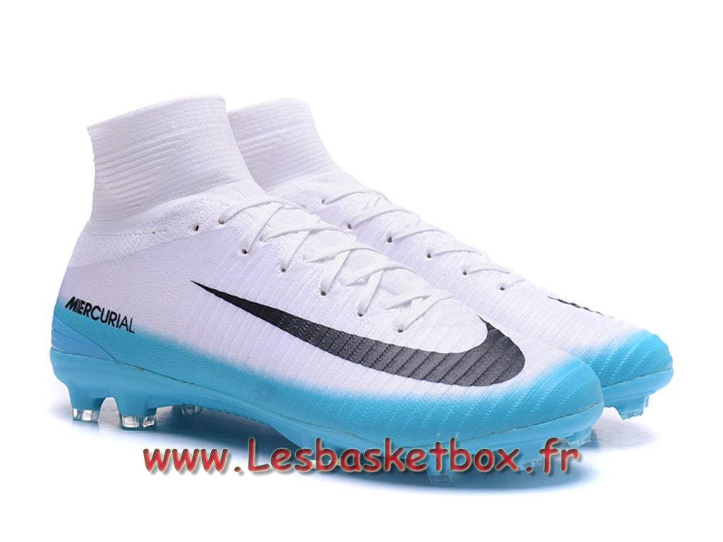 new list online here hot sales Nike Mercurial Superfly V FG Chaussure de football à crampons pour terrain  sec Blanc Bleu noires - 1709071184 - Officiel Nike Basket Pour Homme Et ...