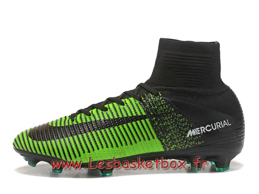 magasin d'usine dc637 97c57 Nike Mercurial Superfly V FG Chaussure de football à crampons pour terrain  sec noires Noirt/Vert - 1709071187 - Officiel Nike Basket Pour Homme Et ...