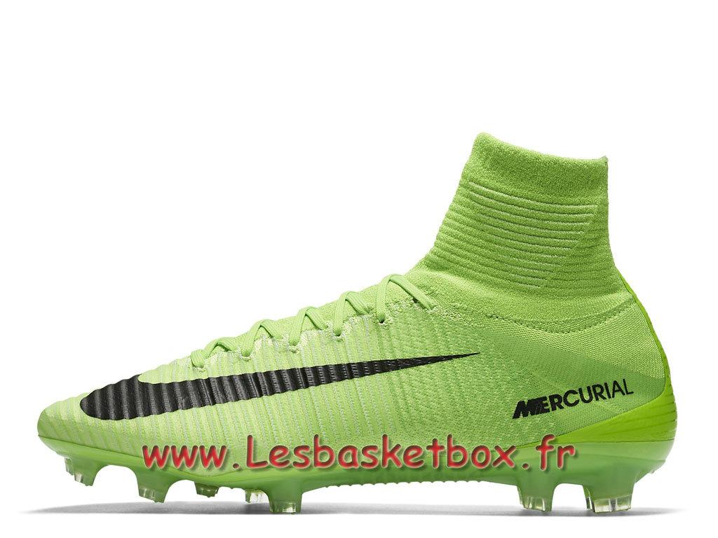 Nike Mercurial Superfly V FG Chaussure de football à crampons pour terrain sec pour Homme Vert ombre 831940_305 1709071193 Officiel Nike Basket