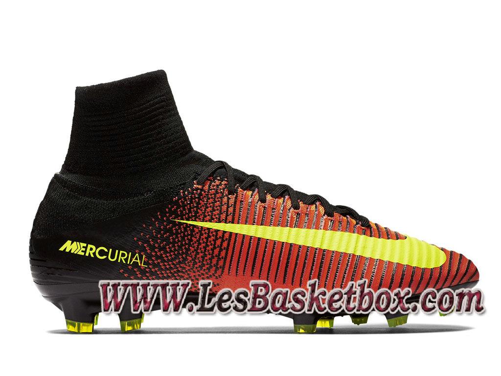 Nike Mercurial Superfly V FG Chaussure de football Officiel Pas cher pour  Homme Volt 831940 870 fe591e4ad82f4