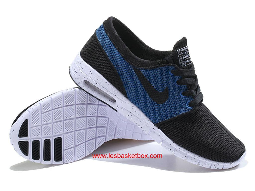 huge selection of 6abc5 886af ... Nike SB Stefan Janoski Max Bleu Noire Blanche Chaussures Pour Homme
